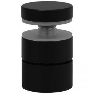 "SSASF112112B mlevel ADJUSTABLE ROUND STANDOFF FLAT CAP 1 1/2"" x 1 1/2"" (SS304) - BLACK"