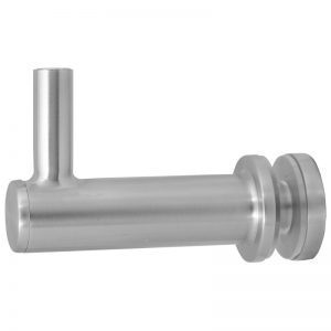 "SSGF200X16S ADJUSTABLE FIXED OFF-THE-GLASS BRACKET WITH 1 1/2"" BACK (SS316) HEAVY DUTY"