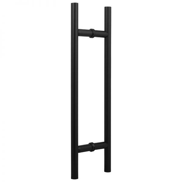 """SSSFDHL12B ROUND LADDER GLASS DOOR HANDLE 12"""" - SATIN BLACK"""