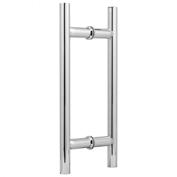 """SSSFDHL8CP ROUND LADDER GLASS DOOR HANDLE 8"""" - CHROME"""