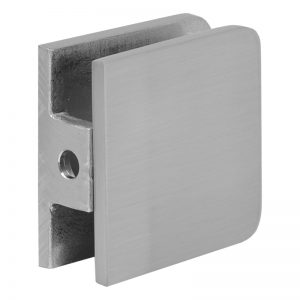 SSSFGCW1BN GLASS CONNECTOR FOR GLASS TO WALL (1-HOLE) - BRUSHED NICKEL