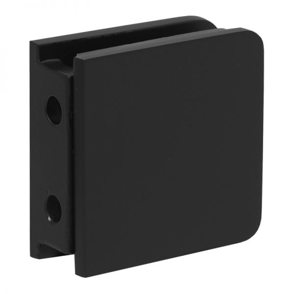 SSSFGCW2B GLASS CONNECTOR FOR GLASS TO WALL (2-HOLE) - SATIN BLACK
