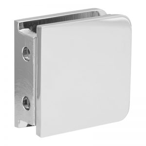 SSSFGCW2CP GLASS CONNECTOR FOR GLASS TO WALL (2-HOLE) - CHROME