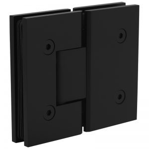 SSSFH180B STANDARD HINGE FOR GLASS TO GLASS AT 180° - SATIN BLACK