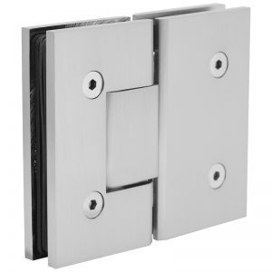 SSSFH180BN STANDARD HINGE FOR GLASS TO GLASS AT 180° - BRUSHED NICKEL