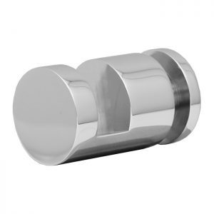 SSSFDTRNDCP OFF-THE-GLASS ROUND TOWEL HOLDER 25mm DIA. x 33mm - CHROME