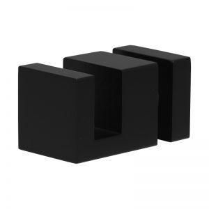 SSSFDTSQRB OFF-THE-GLASS SQUARE TOWEL HOLDER 25 x 33mm - SATIN BLACK