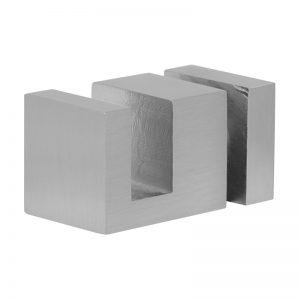 SSSFDTSQRBN OFF-THE-GLASS SQUARE TOWEL HOLDER 25 x 33mm - BRUSHED NICKEL