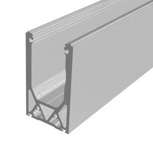 SSSM3SHOE10 TILT-LOCK™ ADJUSTABLE TOP MOUNT BASE SHOE FOR 12-13mm GLASS 10 FT. KIT - NO CLADDING