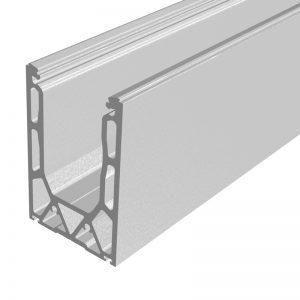 SSSM4SHOE10 TILT-LOCK™ ADJUSTABLE TOP MOUNT BASE SHOE FOR 16-17.52mm GLASS 10 FT. KIT - NO CLADDING