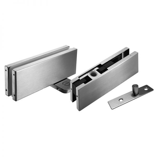 SSGWPF90SS PATCH FITTINGS - HYDRAULIC PATCH DOOR KIT 90° HOLD OPEN FOR GLASS DOOR - SATIN STAINLESS STEEL