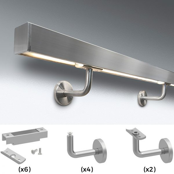 SSL1KITS LumaRail™ LED HANDRAIL SYSTEM HARDWARE KIT - SATIN
