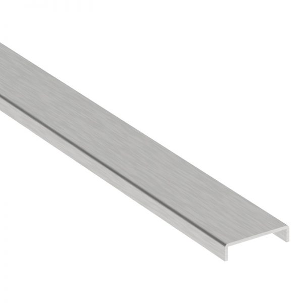 SSUTCH212 TOP EDGE COVER 19 FT. WITH 5mm HEIGHT & 14mm INNER WIDTH FOR 12-13.52mm GLASS - STAINLESS STEEL 316